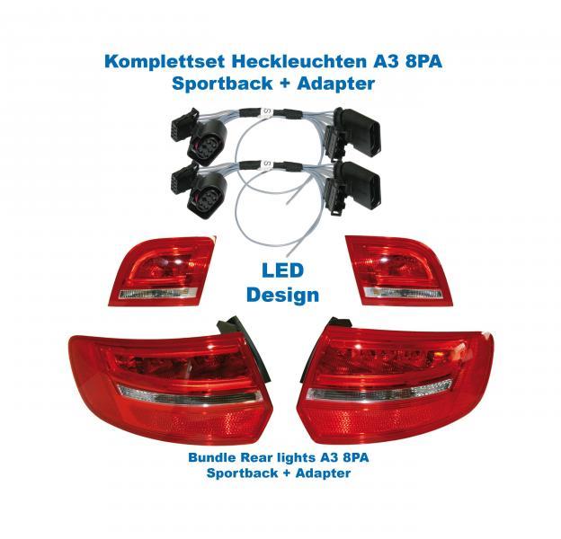 Facelift Led Baklykter Til A3 8pa Sportback For