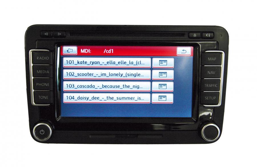 vw media in mdi interface for ettermontering bilkomponenter
