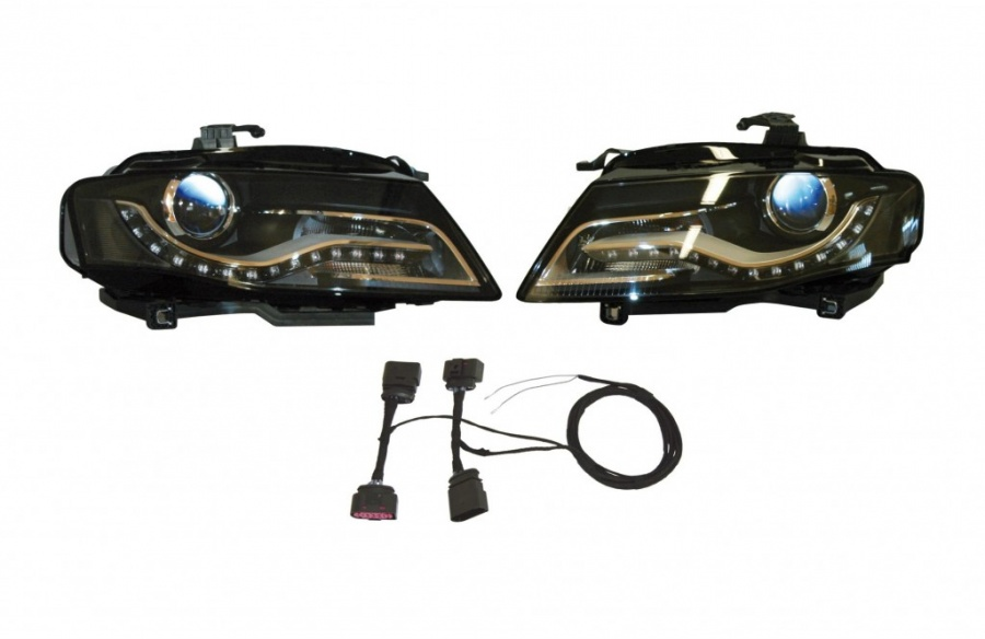 bi xenon led lamper audi a4 8k bilkomponenter. Black Bedroom Furniture Sets. Home Design Ideas