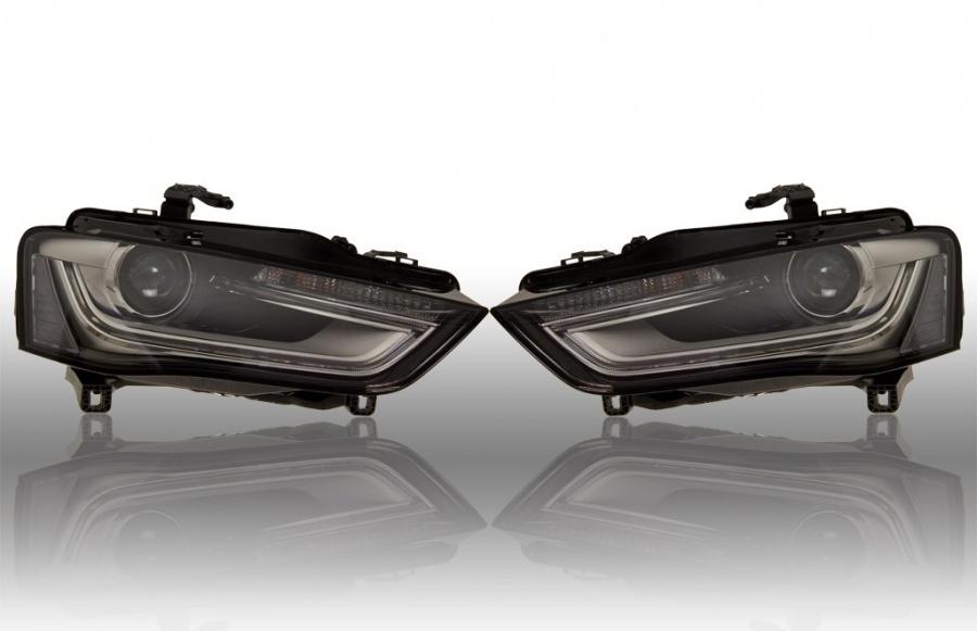 bi xenon led facelift frontlykter audi a4 8k bilkomponenter. Black Bedroom Furniture Sets. Home Design Ideas