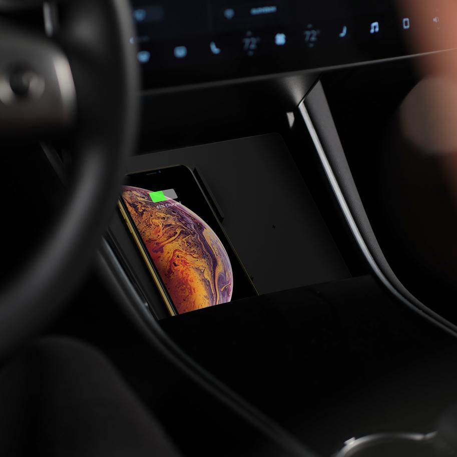 Trådløs Qi lader Tesla Model 3 Bilkomponenter.no